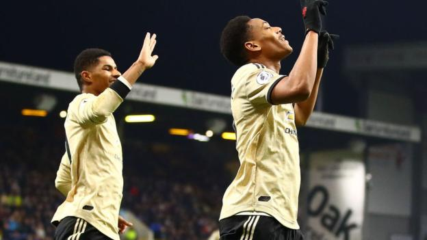 Burnley 0-2 Manchester United: Red Devils up to fifth with victory