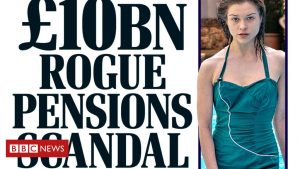 Newspaper headlines: Pensions 'scandal' and the 'Flake District'