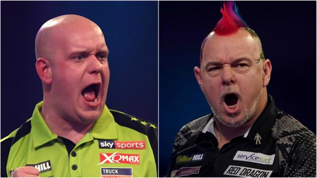 PDC Darts Championship: Michael van Gerwen to play Peter Wright in final