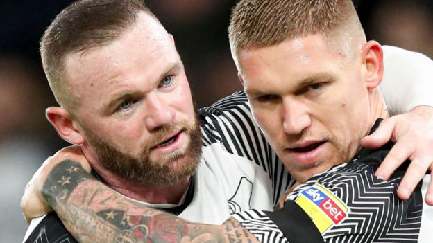 Derby County 2-1 Barnsley: Wayne Rooney captains Rams to victory against Tykes