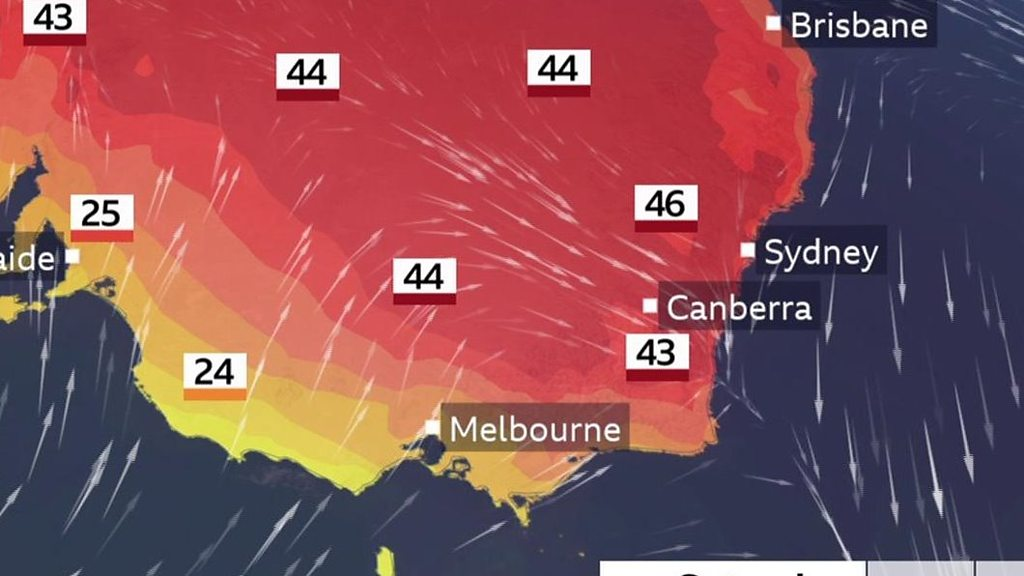 Australia fires: Heat and winds expected to stoke fires