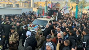 Qasem Soleimani: Mourners gather in Baghdad for funeral procession